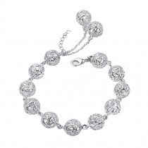 Eye-Catching Hollow ball Silver Plated Bracelet Bangle Charm Bracelets