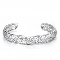 Eye-Catching Forever Love Silver Plated Bracelet Bangle Charm Bracelets