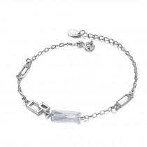 Fashion Eye-Catching 925 Silver Crystal Bracelet Charm Bracelets