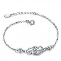 Fashion Eye-Catching 925 Silver Forever Love Bracelet Charm Bracelets