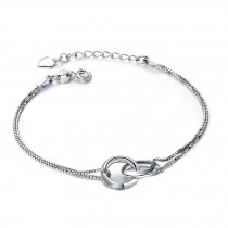 Fashion Eye-Catching 925 Silver Concentric rings Bracelet Charm Bracelets