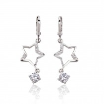 Sweet Crystal Star Earring Ear Stud Pin Wrap Party Wedding