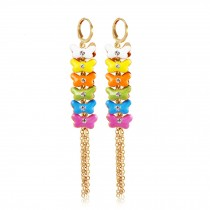 Bohemian Style Colorful Bow Earring Ear Stud Wrap Party Wedding
