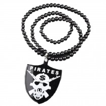 Hip-Hop Fashion Skull Shield Pendant Ball Bead Chain Necklace