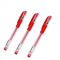 Extra Fine Point (0.5mm) Gel Ink Roller Ball/Correction Pen, Pack Of 12, Red Ink