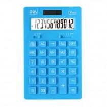 Ultrathin Dual Power 12 Digits Desktop Calculator, LCD Display, Light Blue