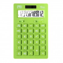 Ultrathin Dual Power 12 Digits Desktop Calculator, LCD Display, Green