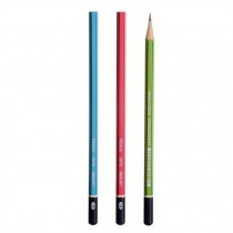 HB Wood Pencils/Wood-Cased Pencils Perfect For Children, Pack Of 12, Multicolor
