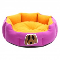 Detachable House Pet Mat Stylish Pet Bed Pet House Kennel Lovely Dog Purple