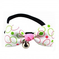 Adjustable Dog/Cat Collar Bow Ties Necklace With Bell Grooming Accessories, F