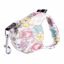 [16-feet Long]Retractable Pet Leash Dog Belt Dog Leash Strap Rope-Rose