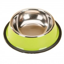 Stainless Steel Outdoors/Travel Feeding Tray Cat Food Bowl Dog Bowl, Green