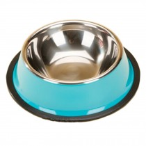Stainless Steel Outdoors/Travel Feeding Tray Dog Bowl Cat Food Bowl, Blue