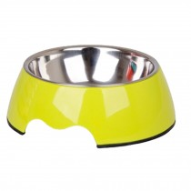 Separable Stainless Steel Feeding Tray Dog Bowl Puppy Feeders Pet Bowl, Green