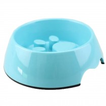 Eating Slowly Dog Bowl Pet Bowl Puppy Feeders Feeding Tray, Blue