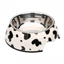Lovely Cow Pattern Puppy Feeders Feeding Tray Dog Bowl Pet Bowl