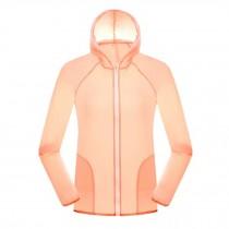Women's UV Protector Jackets Quick Dry Windproof Outdoor Skin Coat,Light Pink