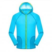 Super Lightweight Jackets UV Protector Quick Dry Windproof Skin Coat,Blue