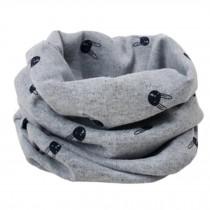 Kids Cute Warm Infinity Scarf Neck Scarves Loop Scarfs, Rabbit/Grey