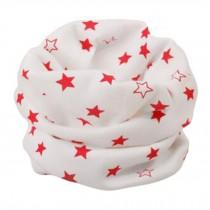 Kids Cute Warm Infinity Scarf Neck Scarves Loop Scarfs, Orange stars