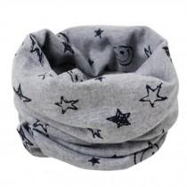 Kids Cute Infinity Scarf Loop Scarfs Neck Scarves Warm, Smile/Grey