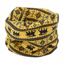 Kids Warm Cute Infinity Scarf Loop Scarfs Neck Scarves Fashion, Yellow