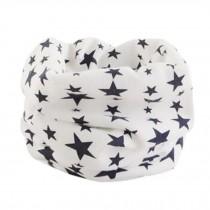 Comfortable Kids Toddler Infinity Loop Scarf Scarves Neck Warmer, Stars/White