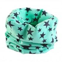 Comfortable Kids Toddler Infinity Loop Scarf Scarves Neck Warmer, Stars/Green