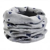 Kids Comfortable Cute Loop Scarf Circle Scarfs Scarves Neck Warmer, Grey