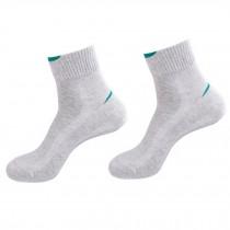 Men's Cotton Mid-calf Length Athletic Slipper Socks Set of 2 Pairs