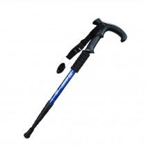 Outdoor Ultralight Hiking Stick Adjustable T-shaped Trekking Poles ,Blue