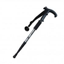 Outdoor Ultralight Hiking Stick Adjustable T-shaped Trekking Poles ,White