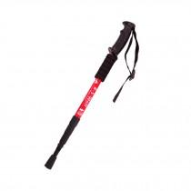 Outdoor Ultralight Hiking Walking Stick Adjustable Trekking Poles ,Red