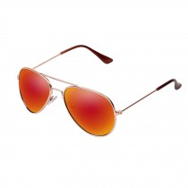 Unisex Kids Childrens Flash Mirror Lens Sunglasses,Tangerine
