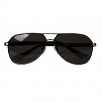 Classic Aviator Style Sunglasses Metal Frame Colored Lens UV Protection,Gray