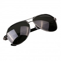 Classic Aviator Style Sunglasses Metal Frame Colored Lens UV Protection,Silvery