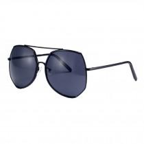 Women's Oversize Fashion Flash Mirror Lens Sunglasses Eyewear, Black