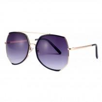 Fashion Oversize Eyewear for Women Flash Mirror Lens Sunglasses