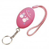 Cute Emergency Self-Defence Electronic Personal Security Keychain Alarm - Pink