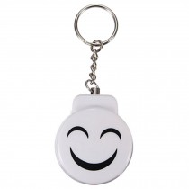 Cute Emergency Self-Defence Electronic Personal Security Keychain Alarm - White