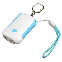 Emergency Self-Defence Personal Security Keychain Alarm Torch LED Light , White