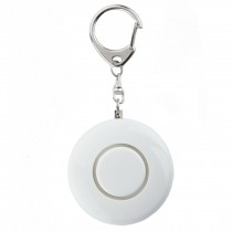 Womens/Children Emergency Self-Defence Personal Security Keychain Alarm, White