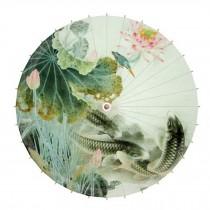 Chinese Classical Style 33-Inch Parasol Anti-rain Paper Umbrella, No.6