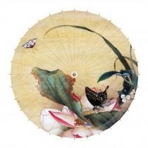 Chinese Classical Style 33-Inch Parasol Anti-rain Paper Umbrella, No.10