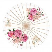 Chinese Style Anti-rain Handmade Paper Umbrella 33-Inch Parasol, No.7