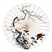 Beautiful Chinese Style Handmade Paper Umbrella Anti-rain 33-Inch Parasol, No.2