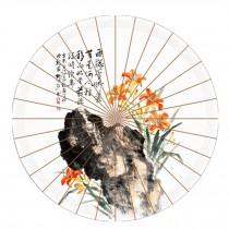 Beautiful Chinese Style Handmade Paper Umbrella Anti-rain 33-Inch Parasol, No.5