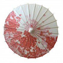 Chinese/Japanese Style Paper Umbrella Parasol 33-Inch Red Cherry