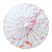 Chinese/Japanese Style Paper Umbrella Parasol 33-Inch Flying Sakura