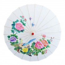Chinese/Japanese Style Paper Umbrella Parasol 33-Inch Early Spring